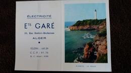 CALENDRIER POCHE 1958 ELECTRICITE ETS GARE ALGER RUE DENFERT ROCHEREAU VUE DU PHARE DE BIARRITZ - Calendriers