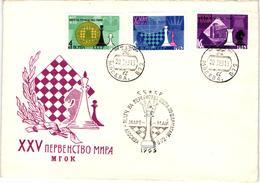 Chess Schach Echecs Ajedrez - USSR. Moscow 1963 World Championship Match_Botvinnik Vs Petrosian- FDC CKM 100 - Scacchi