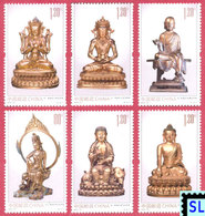 China Stamps 2013, Golden Bronze Buddha's, Buddha, Buddhism, MNH - China