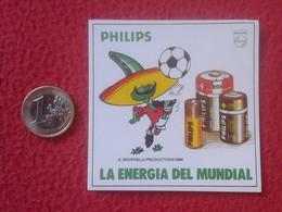 SPAIN PEGATINA ADHESIVO STICKER PILAS BOMBILLA LIGHTBULB LUZ ELÉCTRICA AMPOULE LIGHT BULB ENERGÍA PHILIPS MUNDIAL MÉXICO - Pegatinas