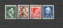 1941 - N. 371/74** (CATALOGO UNIFICATO) - Switzerland