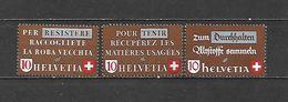 1942 - N. 375/77** (CATALOGO UNIFICATO) - Switzerland