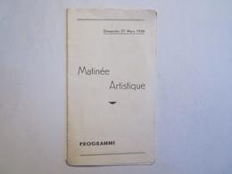 Paris Matinée Artistique Programme Le Rosaire Colette Didier - Programs