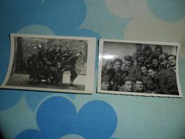 2 FOTO Piccole MILITARI In Permesso - Guerra, Militari