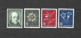 1943 - N. 388/91** (CATALOGO UNIFICATO) - Switzerland