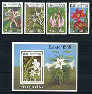 ANGUILLA 1988 N° 710/713 Bloc 80 ** Neufs MNH Superbes C 15 € Flore Fleurs De Lys Flowers - Anguilla (1968-...)
