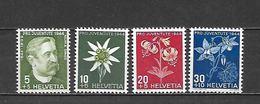 1944 - N. 399/402** (CATALOGO UNIFICATO) - Switzerland