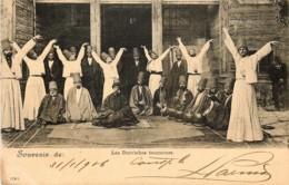 Turquie - Constantinople -Souvenir - Les Derviches Tourneurs - Voir Oblitération - Turquie