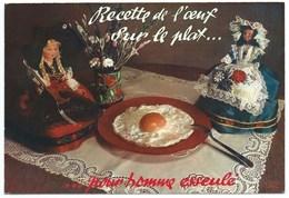 CARTE POSTALE / RECETTE DE L'OEUF SUR LE PLAT - Recettes (cuisine)