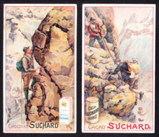 2 CHROMOS Chocolat SUCHARD  L' Alpinisme  Montagnes Mountaineering  Serie 124 - Suchard