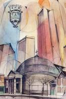 Henri Batejat - Naissance D'une Ville Nouvelle - Architecture - Courbevoie - Timbres