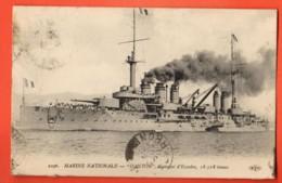 TRK-21 Marine Nationale, DANTON Cuirassé D'Escadre 18318 Tonnes. Circulé 1919 - Guerra