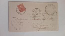 1898 - Lettera Dal Municipio Di Arzano (NA) A Sorano (GR) Con Annullata Con Timbro Cerchio Grande - 1878-00 Umberto I