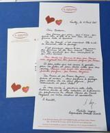 1 Lettre Clarins 2005 Par Amour Toujours - Perfume Cards