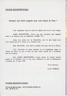 Encart Officiel 1988 Du Baptême Du Bureau De PARIS 78 Baptisé PARIS MONTEVIDEO Rue De Montevideo - Marcofilia (sobres)