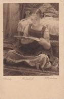 AK Vlaho Bukovac - Bilderbuch - Mädchen Mit Buch - Künstlerkarte (38660) - Künstlerkarten