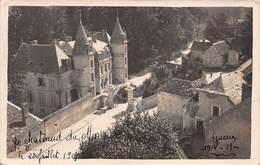 02- VERNEUIL- Carte Photo - Château De Verneuil Touché Par Des Obus,trous D'obus Le 22 Juillet 1915 - France