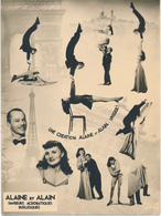 ALAINE ET ALAIN - Danseurs Acrobatique Burlesques, Spectacle, Cirque - Photo  17 X 23 Cm - Altri