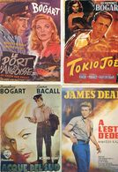 Cinema - Lot De 7 Cartes - Affiches De Cinema - Hitchcock, Stewart, Brando, Bogart, Dean - Cinéma