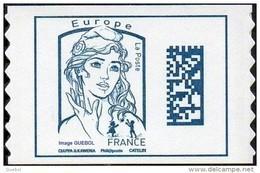 France Autoadhésif N° 1216,** Marianne De Ciappa Et Kawena - Datamatrix Europe Sans Indication De Poids - Adhésifs (autocollants)