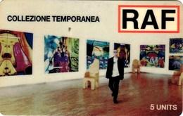 *ITALIA: GLOBAL ONE - RAF* - Scheda Usata - Italia