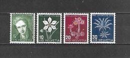 1946 - N. 433/36** (CATALOGO UNIFICATO) - Zwitserland