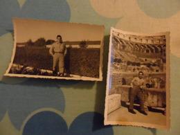 2 FOTO Piccola MILITARE IN LIBERA USCITA 1951 - Guerre, Militaire