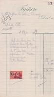 1929: Facture De ## COLIN Achille, Aficheur à WASMES ## à ## Mr. Le Notaire BROUEZ à WASMES ## - Belgium