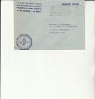 L 3 - Enveloppe Gendarmerie Transports Aériens  à CANNES - Cachets Militaires A Partir De 1900 (hors Guerres)