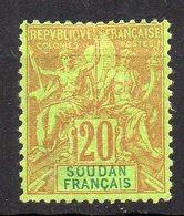 Col11   Soudan  N° 9 Neuf Sans Gomme  Cote  34,00 Euros - Soudan (1894-1902)