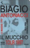*ITALIA: GLOBAL ONE - BIAGIO ANTONACCI* - Scheda Usata - Italia