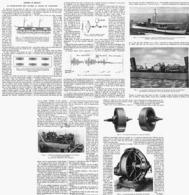 CONTRE Le ROULIS La Stabilisationdes Navires Au Moyen Du GYROSCOPE  1916 - Bateaux