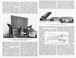 """LE PONT ROULANT à BASCULE  Systéme """" SCHERTZER """"  1916 - Technical"""