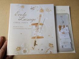 ECOLE LESAGE BRODERIE D'ART Avec LOT PERLES PAILLETTES Broder Crochet Lunéville Patrons Exemples - Art