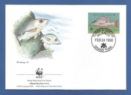 Turks & Caicos 1998 , Mahogany Snapper / Mahagonischnapper - WWF Official First Day Cover  FEB 24 1998 - Turks & Caicos (I. Turques Et Caïques)