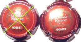 Gosset N°31a, Grande Réserve, Rouge & Or, Lettres Fines - Champagne