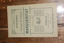Supplément Catalogue De Musique 1912 - Partitions Musicales Anciennes