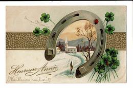 CPA - Carte Postale -Belgique -Bonne Année - Un Fer à Cheval  S4895 - Nouvel An
