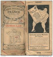 CARTE MICHELIN , N 28 ,   CLERMONT - LYON    De 1924 - Cartes Routières