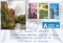 Belle Lettre Belgique (Dinant,St Vith,Bastogne), Adressée Andorra, Avec Timbre à Date Arrivée - Belgium
