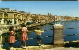 MALTA - GZIRA WHARF FORT MANOEL BRIDGE - BY GIOV. MUSCAT & CO. - 1960s (BG1910) - Malta