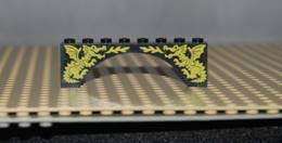Lego Brique Voute Arche Noir Avec Motif Dragon Jaune Ref 3308pb01 - Lego Technic