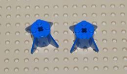 Lego Lot 2x Brique Reacteur Bleu Space 2x2x2 Ref 4591 - Lego Technic