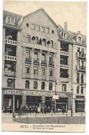 CPA Metz Hôtel Restaurant National Gegenuber Dem Hauptbahnhof - Metz