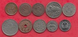 Autres-Asie 38 Pièces Dans L 'état (scan 1 -pièce N °2 Népal -2 Paisa 1921-n °3 -2 Paisa 1935 -n °3 à Identifier) - Monnaies