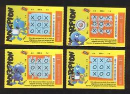 Grattage FDJ - FRANCAISE DES JEUX - Série Complète MORPION 38905 - Billets De Loterie