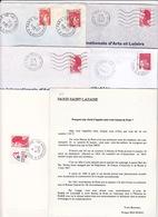 Lot 16 Lettres Oblitération PARIS 118 Baptisé PARIS ST LAZARE Rue D'Amsterdam : TàD Manuel SECAP PP - Marcofilia (sobres)