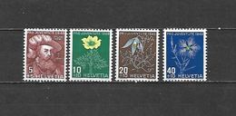 1949 - N. 493/96** (CATALOGO UNIFICATO) - Zwitserland