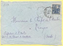 FRANCIA - France - 1929 - 50c Jeanne D`Arc + Cachet Convoyeur Ambulant - Big Fragment - Viaggiata Da Chalons Sur Marne à - Storia Postale