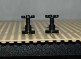 Lego Lot 2x Support Noir Space 2x2x2 Ref 3940a - Lego Technic